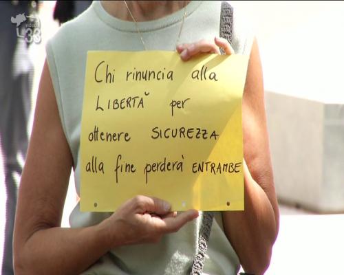 Manifestazione a Bolzano contro le misure anti covid
